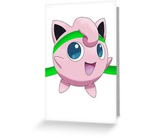 Jigglypuff Headband Greeting Card