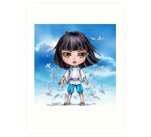 Haku from Spirited Away - chibi 1 Art Print