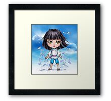 Haku from Spirited Away - chibi 1 Framed Print