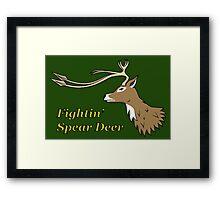 Fightin' Spear Deer Framed Print