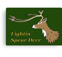 Fightin' Spear Deer Canvas Print