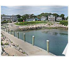 Boat Ramp at Monahan's Dock - Narragansett RI Poster