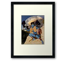 Her greeting was cautious Framed Print