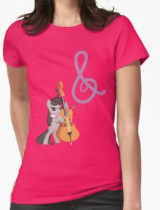 Octavia and Cutie Mark Womens Fitted T-Shirt