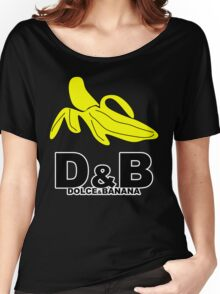 Funny Mens T-Shirt Dolce & banana' Short Sleeve Tee - 100% Cotton, Graphic Tee Women's Relaxed Fit T-Shirt