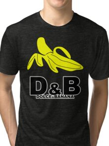 Funny Mens T-Shirt Dolce & banana' Short Sleeve Tee - 100% Cotton, Graphic Tee Tri-blend T-Shirt