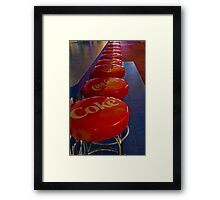 Immediate Seating, No Waiting Framed Print
