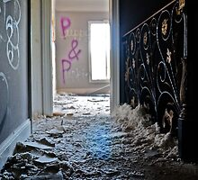 Abandoned Mansion Graffiti - Puppy & Punkie by ashley hutchinson