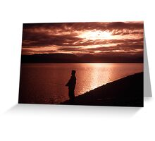Yukon Evening Greeting Card