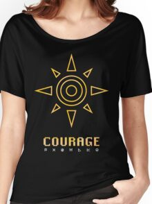 Digimon - Crest of Courage Women's Relaxed Fit T-Shirt