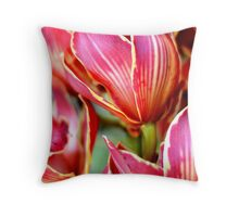 Strictly Tulips Throw Pillow