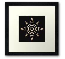 Digimon - Crest of Courage Framed Print