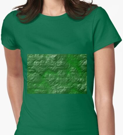 A Crumpled Green design for everything Womens Fitted T-Shirt
