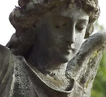 Norwood cemetary: Sculpture: Heavenly Angel -(220811b)- Digital photo by paulramnora