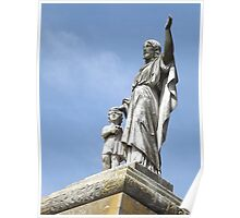 Norwood cemetary: Sculpture: Jesus and child -(220811b)- Digital photo Poster