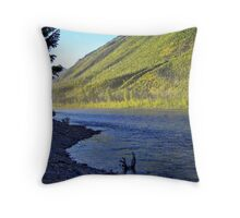 Silence (Glacier National Park, Montana, USA) Throw Pillow
