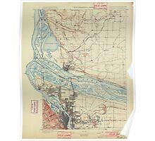 USGS Topo Map Oregon Portland 282793 1897 62500 Poster