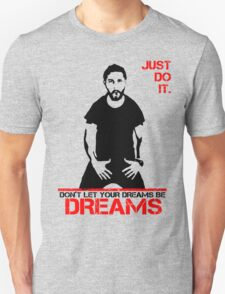 Shia Lebeouf Motivation White T-Shirt