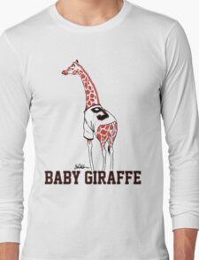 Baby Giraffe Belt Long Sleeve T-Shirt