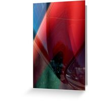 Auto Abstract - Red (02) Greeting Card