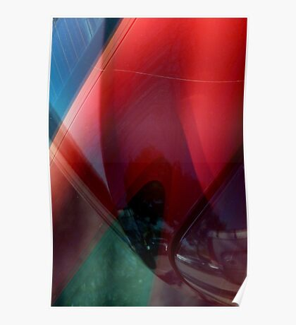 Auto Abstract - Red (02) Poster