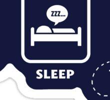 Eat, Sleep, Who Sticker