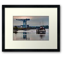 PS Waverley @ Clydebank Titan Framed Print
