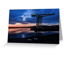 Clydebank Titan Sunset Greeting Card