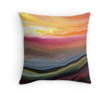 Fluid Landscape Throw Pillow