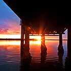 Ripple Sunset - South Stradbroke Island by Beth  Wode