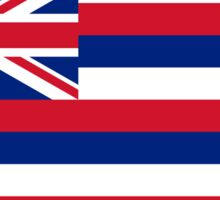 Hawaii, Flag of Hawaii, Hawaiin Flag, State flags of America, USA Sticker