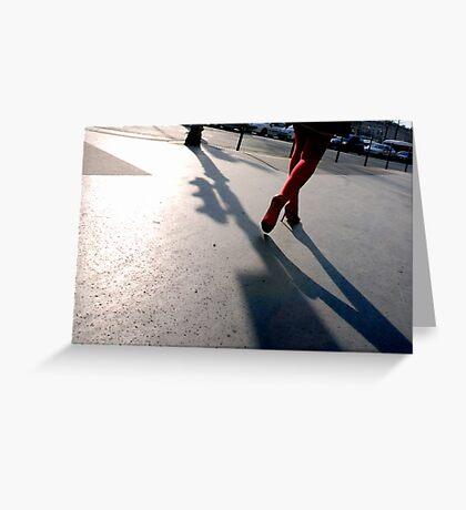 Paris - L'ombre de tes pas. Greeting Card