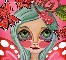 """Red Butterfly Fairy""  by Jaz Higgins"