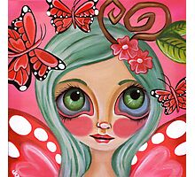 """Red Butterfly Fairy""  Photographic Print"