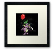 My Little Pony - MLP - FNAF - Spike Animatronic Framed Print