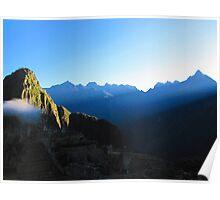 sunrise in machu picchu Poster
