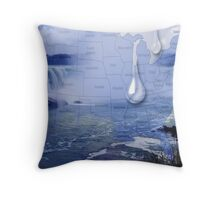 THE GREATEST WATER CRISES IN THE HISTORY OF THE UNITED STATES.2015..I ASK THIS QUESTION--WHAT WILL U DO WHEN ALL THE WATER IS GONE?? UPDATE WED.MAY20-2015,APPROX..21,000 GALLONS OIL SPILL SO SAD.. Throw Pillow