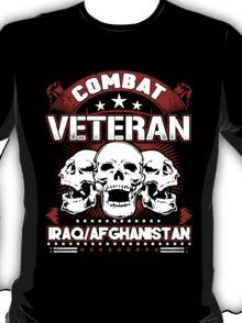 Combat Veteran Iraq and Afghanistan  T-Shirt