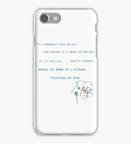 Amount to a damn in the arts iPhone Case/Skin