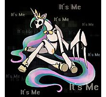 My Little Pony - MLP - FNAF - Celestia Animatronic Photographic Print