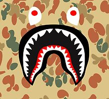 bape shark brown by goldney09