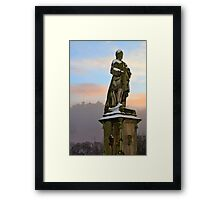 Allan Ramsay Statue, Princes Street, Edinburgh. Framed Print