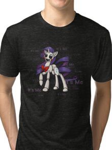 My Little Pony - MLP - FNAF - Rarity Animatronic Tri-blend T-Shirt