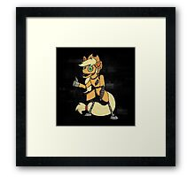 My Little Pony - MLP - FNAF - Apple Jack Animatronic Framed Print