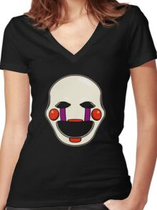 Five Nights at Freddy's - FNAF 2 - Puppet  Women's Fitted V-Neck T-Shirt