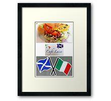 Cafe Luisa Framed Print