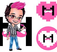 I Heart Markiplier Stickers x3 by Dacdacgirl