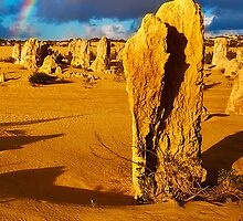Nambung National Park Pinnacles Rainbow 2 by Jaxybelle