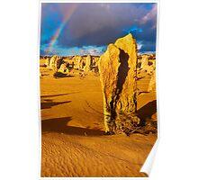 Nambung National Park Pinnacles Rainbow 2 Poster