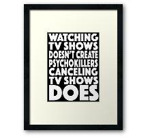 tv shows Framed Print